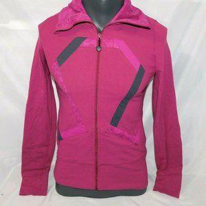 Lululemon Womens 6 Origami Stride Jacket Full Zip